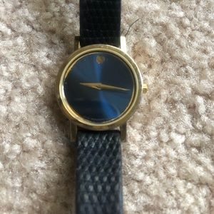 Movado Museum Black Dial/Gold Watch